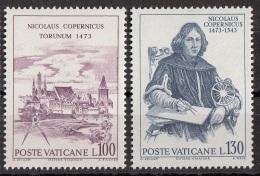 Vaticano 1973 Blf. 542-543Copernico Copernicus Astronomo Astrologo  Torunum Torun MNH - Astrologia