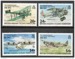 British Indian Ocean Territory 1993 - 75th Anniversary Of The RAF SG136-139 Cat £5.35 SG2015 - Brits Indische Oceaanterritorium