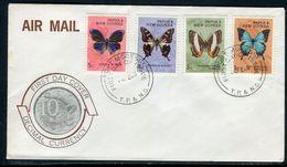 Papouasie Nouvelle Guinée - FDC  En 1968 , Papillons - Ref S40 - Papouasie-Nouvelle-Guinée