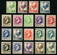 FRANCE - YT 630 à 648 ** - SERIE COMPLETE 19 TIMBRES NEUFS ** - Neufs