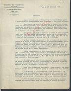 LETTRE DIRECTION DU PARI MUTUEL PARIS RUE DES PETITS HÔTELS 1934 : - Equitation