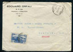 Liban - Enveloppe Commerciale De Tripoli- Liban Pour Glasgow En 1946 , Affranchissement Recto Et Verso- Ref S52 - Lebanon