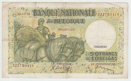 Belgium 50 Francs (1938) Pick 106 Fine - 50 Francos-10 Belgas