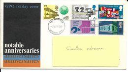 GB Enveloppe P J 2/04/1969 Premiers Vols Atlantique Sans Escale Et Angleterre-Australie, Europa Avec Carte Explicative - Flugzeuge