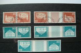 Suisse - Timbres Tête-bêche - Yvert N° 817a & 817b Oblitérés - 818a & 818b Neufs ** (MNH) - Voir Scan - Inverted (tête-bêche)