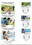 Nouvelle Calédonie - FDC Yvert 546 à 548 - Jeux Pacifique Sud - R 4516 - FDC