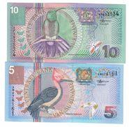 Suriname Lot 10 & 5 Gulden 2000 UNC .C. - Suriname
