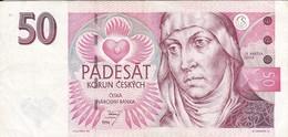 BILLETE DE LA REPUBLICA CHECA DE 50 KORUN DEL AÑO 1994 CALIDAD MBC (VF) (BANKNOTE) - Czech Republic