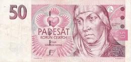 BILLETE DE LA REPUBLICA CHECA DE 50 KORUN DEL AÑO 1997 CALIDAD MBC (VF) (BANKNOTE) - República Checa