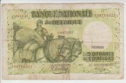 Belgium 50 Francs (1943) Pick 106 AFine - [ 2] 1831-... : Regno Del Belgio