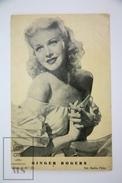 Old 1950's Movie Advertising/ Cinema Leaflet - M.G.M. Actress: Ginger Rogers - Publicité Cinématographique