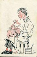N°55631 -cpa Illustrateur ThB -cochon Chez Le Vétérinaire- - Cochons