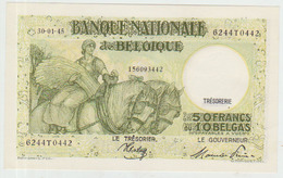 Belgium 50 Francs (1945) Pick 106 UNC - 50 Francos-10 Belgas