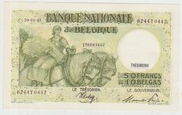 Belgium 50 Francs (1945) Pick 106 UNC - [ 2] 1831-... : Regno Del Belgio