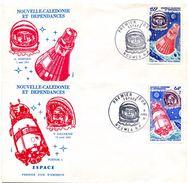 Nouvelle Calédonie - FDC Yvert PA 212 & 213 - Espace - R 4525 - FDC