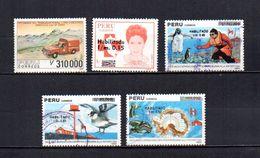 Perú   1990-91  .-  Y&T  Nº   944 - 949 - 950/952 - Peru