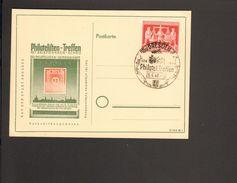 Bizone 24 Pfg.Exportmesse Hannover Auf Blanko-Karte Mit Sonderstempel Philatelisten-Treffen Dresden 1948 - Gemeinschaftsausgaben