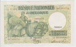 Belgium 50 Francs (1944) Pick 106 UNC - 50 Francos-10 Belgas