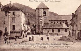 CPA 25 - VUILLAFANS - LA PLACE ET L'EGLISE - France