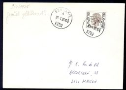 Ben-Ahin Litt A Op Brief En Litt B Op Postkaart Adreswijziging 1975 - Sonstige