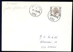 Ben-Ahin Litt A Op Brief En Litt B Op Postkaart Adreswijziging 1975 - Poststempel