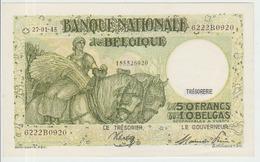 Belgium 50 Francs (27.01.1945) Pick 106 UNC - [ 2] 1831-... : Regno Del Belgio