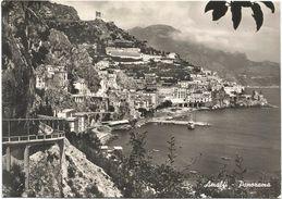 Z4707 Amalfi (Salerno) - Panorama - Barche Boats Bateaux / Viaggiata 1956 - Altre Città