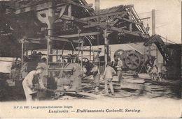 CPA RARE BELGIQUE SERAING LAMINOIRS ETABLISSEMENT COCKERILL LES GRANDES INDUSTRIES BELGES - Seraing