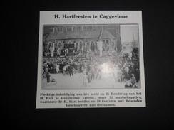 "Origineel Knipsel ( 502 ) Uit Tijdschrift  "" Ons Volk Ontwaakt ""  :  Caggevinne  Kaggevinne    1930 - Documentos Antiguos"
