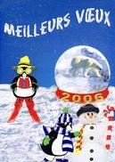 """Encart 1er Jour De 2005 """" MEILLEURS VOEUX 2006 / OURS / PINGUOUIN """" N° YT 4033. Voir Les 2 Scans. - Bären"""