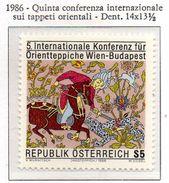 PIA  -  AUSTRIA  -  1986  : 5° Conferenza Internazionale Sui Tappeti Orientali - Tappeto In Seta  (Yv 1690) - Tessili