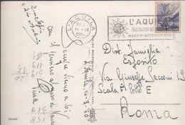 3176   Postal L´Aquila 1950, Italia, Flamme  Turístico, - 1946-60: Marcophilie