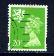 SCOTLAND  -  1971  Machin  Elliptical Perfs.  20p  Used As Scan - Regional Issues
