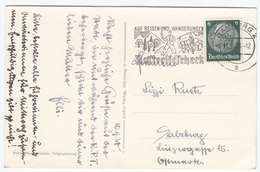 Auf Reisen Und Wanderungen Postreisescheck Slogan Postmark On Babmberg Old Postcard Travelled 1938 B170907 - Alemania
