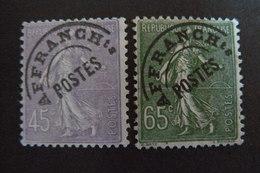 France - Préoblitérés Type Semeuse - Yvert N° 46 & 49 SG - Voir Scan - 1893-1947