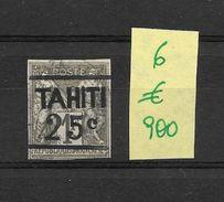 TAHITI COLONIE FRANCAISE AN 1882 YVERT NR. 6 OBLITERE AVEC 2 CERTIFICATIONS D'EXPERTS AU DOS - Oblitérés