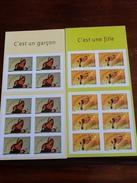 C EST UNE FILLE - C EST UN GARCON ( Valeur 10 €) - Mint/Hinged