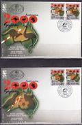 Yugoslavia, 2000, XXVII Summer Olympic Games,Sydney,2 X FDC, Mi 2980-2983 - Ete 2000: Sydney