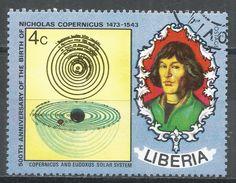 Liberia 1973. Scott #654 (U) Nicolaus Copernicus (1473-1543), Polish Astronomer, Solar System - Liberia