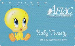 Télécarte Japon / 110-016 - BD COMICS - Oiseau Canari TITI  / AFLAC - TWEETY Bird Japan Phonecard - Assu 82 - Comics