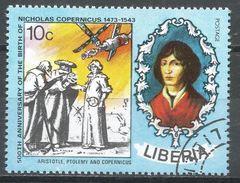 Liberia 1973. Scott #655 (U) Nicolaus Copernicus (1473-1543), Polish Astronomer, Satellite - Liberia