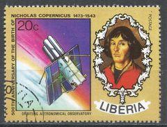 Liberia 1973. Scott #657 (U) Nicolaus Copernicus (1473-1543), Polish Astronomer, Observatory - Liberia