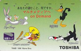Carte Prépayée Japon - BD Comics - Lapin BUGS BUNNY Chat Grosminet Daffy Duck Speedy Gonzalez Mouse - 59 - BD
