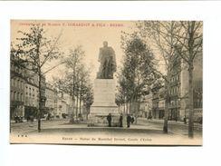 Cp - REIMS (51) - Statue Du Maréchal Drouet Comte D'Erlon + Pub V. Girardot & Fils - Reims