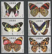 Liberia 1974. Scott #683-8 (U) Tropical Butterflies - Liberia
