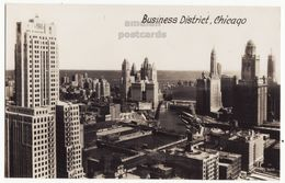 Chicago IL Business District General View, 1930s Vintage Real Photo Postcard RPPC M8484 - Chicago