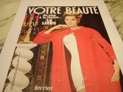 ANCIENNE PUBLICITE  VOTRE BEAUTE 1965 - Habits & Linge D'époque