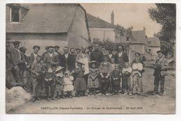 65.444/ CASTILLON - Un Groupe De Castillonnais - 22 Aout 1909 - Autres Communes