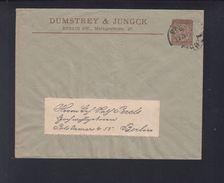 Dt. Reich Privatpost Berlin Umschlag Dumstrey & Jungck - Privatpost