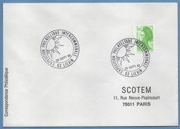 Bureau Temporaire BT Exposition Philatélique Lievin 1982 / N° 2222 Roulette Liberté - Postmark Collection (Covers)